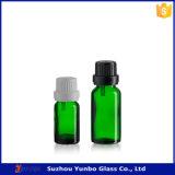frasco interno do conta-gotas do vidro 5ml verde para o petróleo essencial e o petróleo verde-oliva