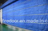 Fuego de fibras inorgánicas cortina doble puerta de persiana Roller