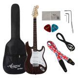 Soemfester Zebrawood-Karosserie Strato Großhandelstyp elektrische Gitarre
