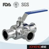 Laterales de acero inoxidable tipo sujeta la válvula de bola higiénica (JN-BLV1006)
