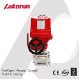 Robinet à tournant sphérique électrique interne anti-déflagrant chinois d'extrémités d'amorçage du constructeur 3-Piece de Wenzhou