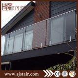 Pasamano de cristal de Frameless de la fabricación del chino al aire libre (SJ-H994)