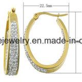 De Gouden Oorring van het Plateren van de Juwelen van het Roestvrij staal van de Juwelen van Shineme (ERS6895)