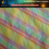 Hilado de colores teñido de tela de nylon para la camisa de las mujeres