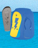 EVA impresión Junta Sandalias / Zapatillas con marco de Can
