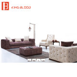 Traditionelles Chesterfield-Art-Leder-Sofa