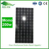 prix mono du panneau solaire 200W par marché de l'Inde de watt