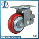 "De "" roda Shockproof rígida de borracha do rodízio do núcleo ferro 6"