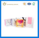中国の製造者の習慣によって印刷される買物をするペーパーギフト袋(ハンドルと)
