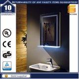 Espelho iluminado Backlit diodo emissor de luz fixado na parede do banheiro da vaidade