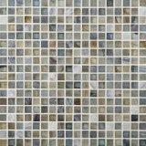 Piedra de chorro de agua barata Baldosa mosaico de mármol para materiales de construcción
