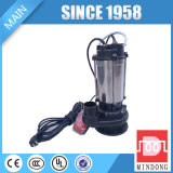 Caractéristiques submersibles électriques assurément de pompe à eau d'égout de la qualité 1.1kw/1.5HP 220V