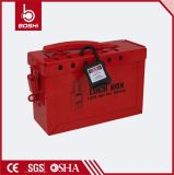 BdX02安全赤い鋼鉄ロックアウトキットかボックス。 Loto装置