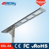 alta luz de calle solar de los lúmenes LED de 20W 30W 40W con poste