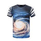 Camiseta 100% de la impresión del poliester 3D para los hombres y las mujeres