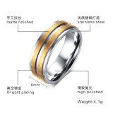 Anel de aço inoxidável de moda joalharia anéis de ouro para os homens a banda de casamento