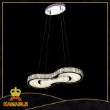 Hängendes Licht des Esszimmer-Dekoration-KristallEdelstahl-LED (KA10046-2D)