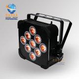 indicatore luminoso a pile UV di PARITÀ della radio LED di 9*18W 6in1 Rgbaw