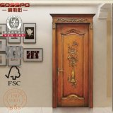 36''x96 '' Carving Wooden Single Door with Flower Designs (GSP2-092)