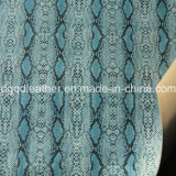 Surface de serpent recto-verso (QDL PU Chaussures en cuir-SP040)