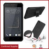 Cassa ibrida del telefono di Kickstand dell'armatura di strato doppio per lo stile di vita di desiderio 10 di HTC