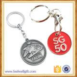 Moneda Keychain de la aleación del cinc con el grabado de la insignia del cliente 3D