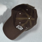 Gorra de béisbol del algodón de los paneles de Brown 6