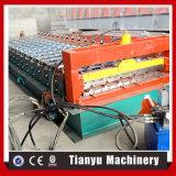 Motor hidráulico que conduz o rolo de aço da cor da telha de telhado do metal que dá forma à máquina