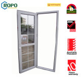 Porta de vidro vitrificada dobro do PVC, projeto da porta da segurança com grade