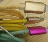 Зарядный кабель данным по USB кабеля светов вспомогательного оборудования 2 СИД мобильного телефона для франтовского телефона