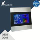 De kleurrijke LCD Elektronische Klok van de Lijst van het Weerstation met Grote Cijfers