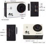 Mini cámara de deporte cámara de buceo al aire libre impermeable
