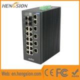 Interruptor de red industrial portuario del SFP de 18 Megabites y de 4 gigabites