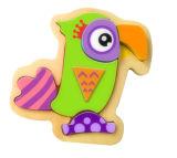 Brinquedo de madeira do enigma do papagaio do presente quente do Natal para miúdos e crianças