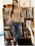 Malha de malha macia personalizada Knitting Winter Sweater Cardigan Coat Apparel