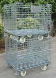 鋼鉄保管倉庫の金網の容器のケージ