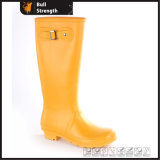Moda cor laranja Waterproof PVC Boot with Buckle (SN5461)