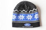 Chapéu de confeção de malhas acrílico curto do Beanie com logotipo feito sob encomenda da impressão