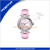 Le rose de cadran d'interpréteur de commandes interactif de lavette de configuration d'étoiles de mer lapide Madame montre-bracelet