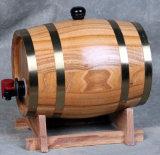 Hölzerne neue Entwurfs-Wein-Zylinder-Zahnstange USA mit Tisch und Prüftischen