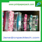 Rectángulo de empaquetado del juguete de la confitería del rectángulo de regalo del papel revestido del PVC de la aduana