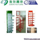 Surper Market/Retail Shop /Carpet Storage Racks、Storage Rackのための木かWooden/Wire/Metal Display Stand