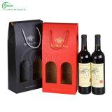 De Doos van de Gift van de Wijn van de douane met de Druk van het Embleem (kg-PX072)