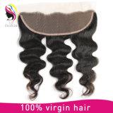 Fechamento frontal humano brasileiro do laço do cabelo 4*13 de Remy do Virgin