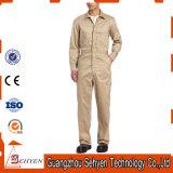 Combinaison kaki personnalisée de travail de sergé de polyester de coton de mode