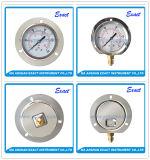 ステンレス鋼の圧力計後部Flangle圧力正確に測空気圧縮されたFillableの圧力計