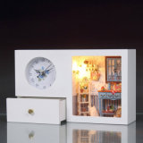 2017 Clock Decoration Wooden Doll House