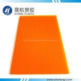 オレンジカラーポリカーボネートの双生児の壁の空シート