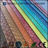 Cuoio sintetico metallico del reticolo PVC/PU del serpente per la signora Fashion Bag, sacchetto di mano, raccoglitore