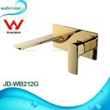 Jd-Wb212g Grifo de Oro en la pared grifo mezclador de latón para baño
